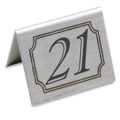 Stainless Steel Table Numbers Set - Stainless steel table numbers
